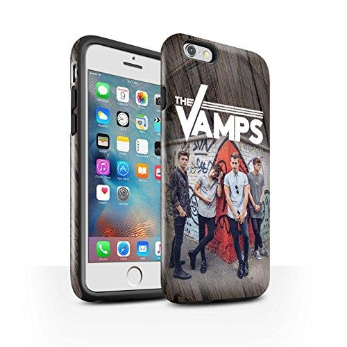 Offiziell The Vamps Hülle / Glanz Harten Stoßfest Case für Apple iPhone 6S+/Plus / Pack 6pcs Muster / The Vamps Fotoshoot Kollektion Holz-Effekt
