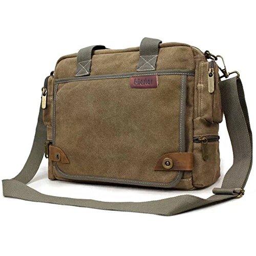 E-Bestar Herren Canvas Handtasche Herren Canvas Tasche Messenger Bag Schultertasche Ideal für Büro Canvas Uni Umhängetasche SLING BAG