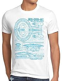 style3 NC-1701-D Cianotipo Camiseta para hombre T-Shirt fotocalco azul trek