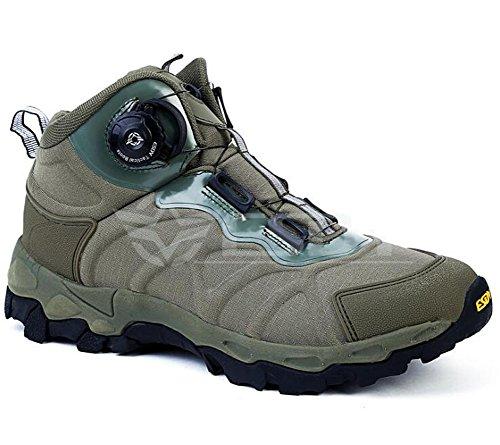 Hommes Taille Basse Chaussures D'escalade Respirant Randonnée Chaussures Mâle Automatique Tactique Bottes Automatique Chaussure Antiskid Porter Résistance Vert