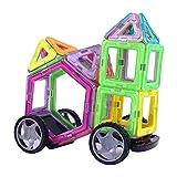 #9: Kurtzy Magnetic Building Blocks 40 Pcs Magnet Blocks Set, Kids Magnetic Toys Construction Stacking kit Come with Zipper Carrying Bag