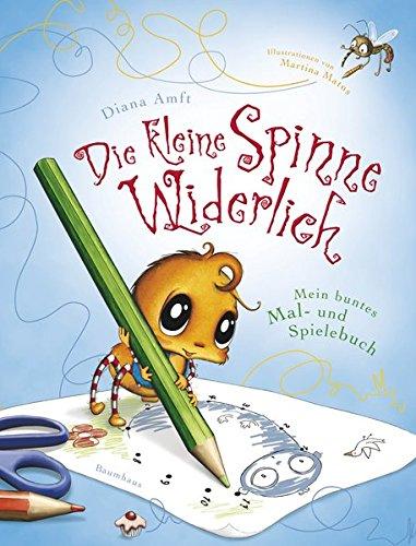 Buchseite und Rezensionen zu 'Die kleine Spinne Widerlich - Mein buntes Mal- und Spielebuch' von Diana Amft