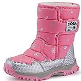 SAGUARO® Bambini Ragazza Stivali da Neve Inverno Stivaletti Pelliccia Boots Impermeabile Stivali,Rosa,30 EU