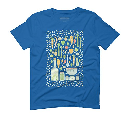 Gather Men's Graphic T-Shirt - Design By Humans Royal Blue