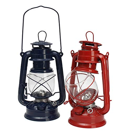 DADEQISH Vintage Öllampe Laterne Kerosin Paraffin Hurrikan Lampe Licht im Freien Camping Außenleuchten (Color : Blue) - Blue Hurricane Lampe