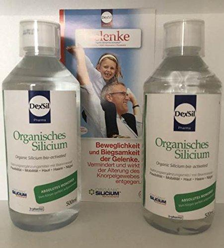 Organisches Silicium, absolutes Monomer wird perfekt vom Körper aufgenommen, Sparset 2 x 500 ml