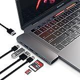SATECHI PRO Hub Adattatore in Alluminio di Tipo-C - Thunderbolt 3 (40 GBS), 4K HDMI, Lettore Schede SD/Micro e 2 Porte USB 3.0 (Grigio siderale)