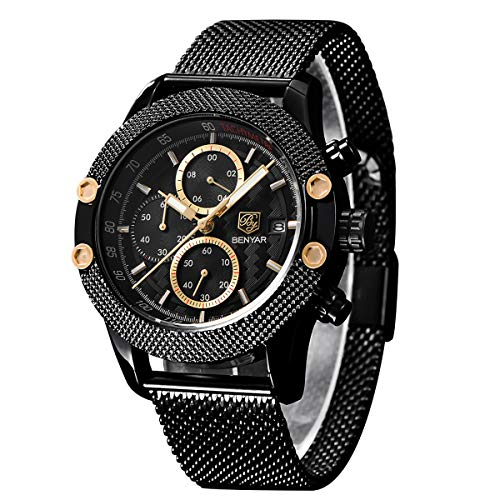 BY BENYAR - Reloj cronógrafo para Hombre | Movimiento de Cuarzo | Fashion Business Sports...