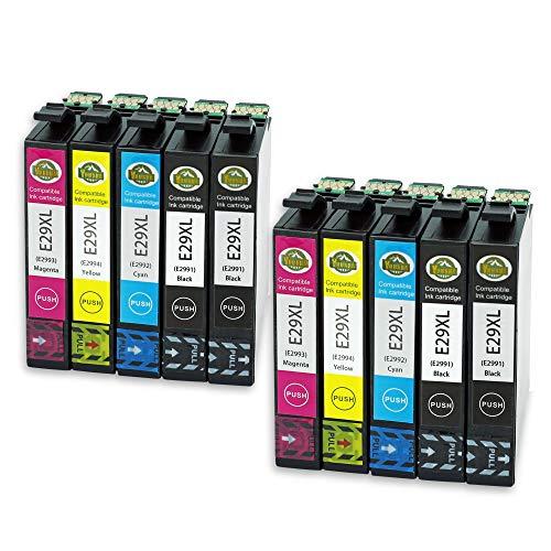 YUUSHA Sostituzione per Epson 29 29XL 10 Pack (4 nero, 2 ciano, 2 magenta, 2 giallo) Cartucce d'inchiostro compatibili con Epson Expression Home XP-255 XP-452 XP-352 XP-245 XP-255