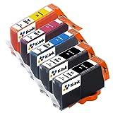 K-Ink Cartucce d'inchiostro Compatibili Sostituzione per HP 364 XL (5 Pacchi - 2 Nero, 1 Ciano, 1 Magenta, 1 Giallo)