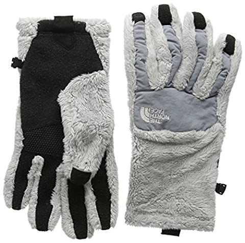 North Face Women's W Denali Thermal Etip Gloves, Grey/Black/Lunar Ice Grey, X-Small