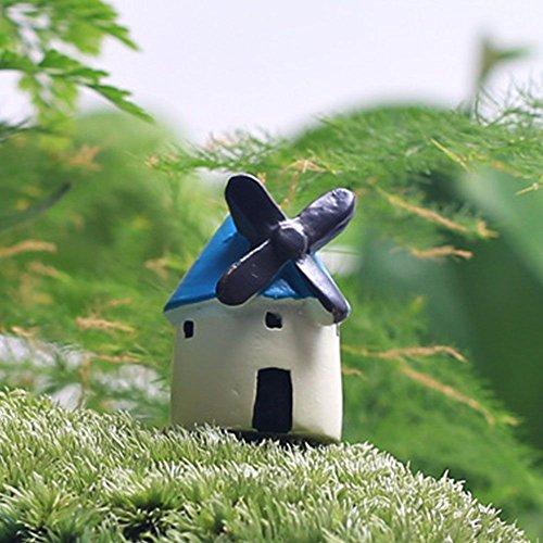 MMRM Moulin à vent Style DIY Artisanat Mini Paysage Bonsaï Décoration Couleur Aléatoire