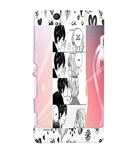 Fuson 3D Printed Love Designer back case cover for Sony Xperia C4 - D4599