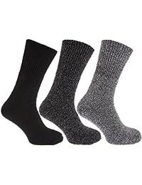 Mens Thermal Non Elastic Wool Blend Socks (2.1 Tog) (Pack Of 3)