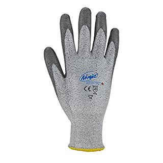 Asatex 3715 8 Schnittschutzhandschuh Ninja mit Stufe 5 Größe 8, Grau, 8