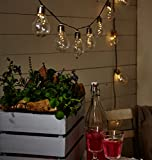 Lumineo 50 Micro LED Solar Lichterkette Glühlampe Partylichterkette Garten 10 Glühbirnen (Klar)