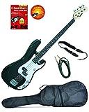 E-Bass P-Style, Schwarz, inkl. Klinkenkabel, Gurt, Tasche, Lehrbuch/CD A050566