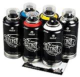 Sprühdosen MTN Graffiti klein bunte Farben im Set 6x150ml