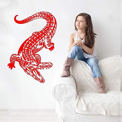 JJHR Wandtattoos Wandaufkleber Alligator Wandtattoo Art Decor Aufkleber Entfernbare Wandaufkleber Home Hintergrund Wanddekor Poster Wandbild 42 * 45 cm (Alligator-wandtattoo)