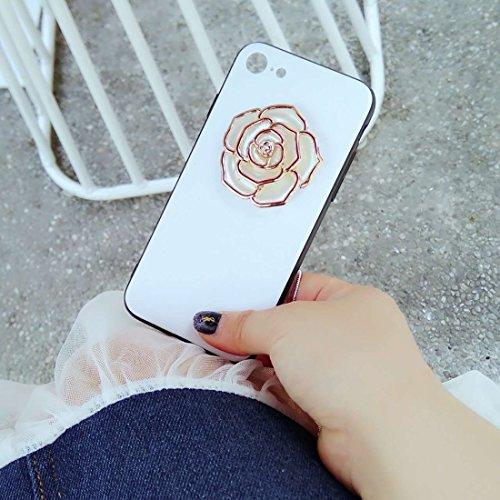 GHC Cases & Covers, Für iPhone 7, Rose Pattern Shockproof schützende rückseitige Abdeckungs-Fall ( Color : Magenta ) Gold
