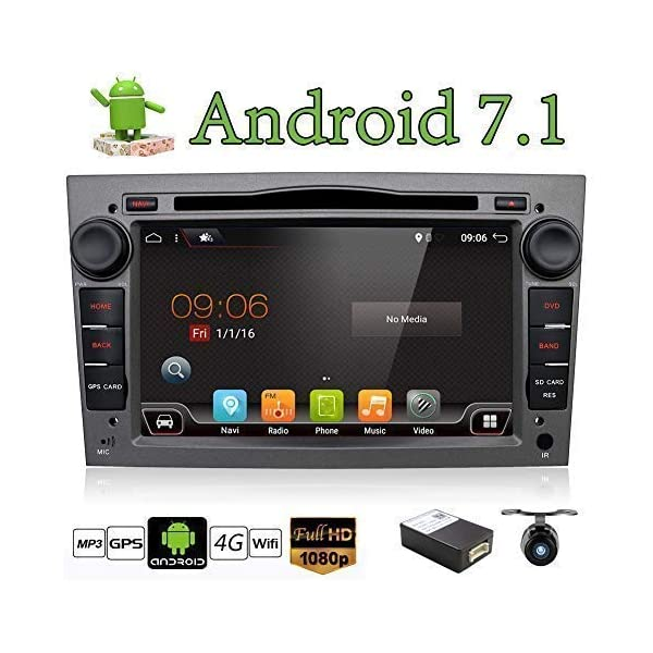 Android 6.0 Quad Core 7″ GPS Car DVD Player For Opel Astra Vectra Zafira Antara Corsa Radio Navigation Stereo Audio and Video Color Gray Free Camera & Canbus 51dxB24qXiL