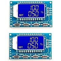 PPITVEQ Generador de señales 2pcs Pantalla LCD Medidor de Frecuencia PWM 1 Hz-150 kHz de frecuencia de Pulso PWM Ciclo Ajustable Cuadrada de la Onda Rectangular Wave (Color : Azul)
