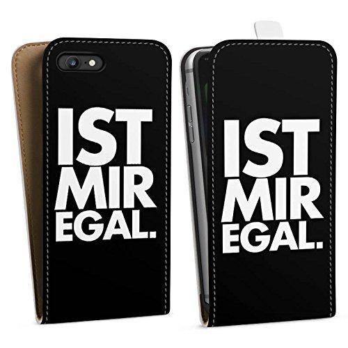 Apple iPhone X Silikon Hülle Case Schutzhülle Sprüche Ist Mir Egal Statement Downflip Tasche weiß