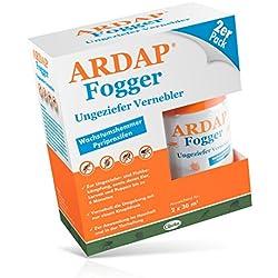 ARDAP Fogger – Zuverlässiger Vernebler zur Ungeziefer- und Flohbekämpfung für die Anwendung im Haushalt sowie in der Tierhaltung - wirksamer Schutz für bis zu 6 Monate – 2 x 100 ml