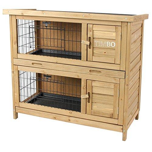 """Kaninchenstall online kaufen - Timbo """"EMMA"""" auf 2 Ebenen für Draußen"""