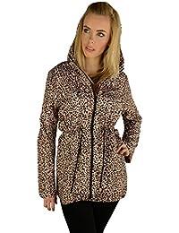 Rita Leopard Fishtail Mac Raincoat