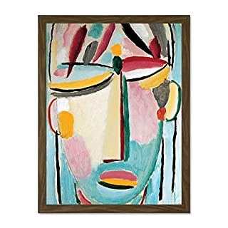 Doppelganger33 LTD Von Jawlensky Death II Saviour's Face Wall Large Framed Art Print Poster Wall Decor 18x24 inch Supplied Ready to Hang