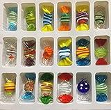 Yeti-Gold Set mit 18 Mini-Glasbonbons