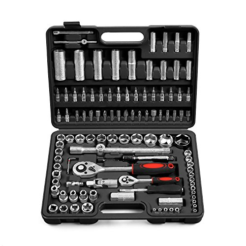 Fixkit 94/108/172 pezzi set di chiavi a bussola cricchetto dado 1/2