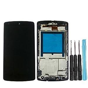 LL TRADER für LG Google Nexus 5 D820 D821 Schwarz LCD Display Touchscreen Digitales Glasobjektiv Ersatz mit Rahmen (einschließlich Werzeung)