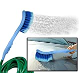 #5: Ramanta 2 in 1 Car Cleaning Brush with Water Spray (Gets Directly Attached to the Water Pipe) For Universal for Land Rover All Car Models (Color: Blue) (1 Pc)