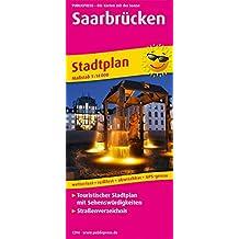 Saarbrücken: Touristischer Stadtplan mit Sehenswürdigkeiten und Straßenverzeichnis. (Stadtplan / SP)