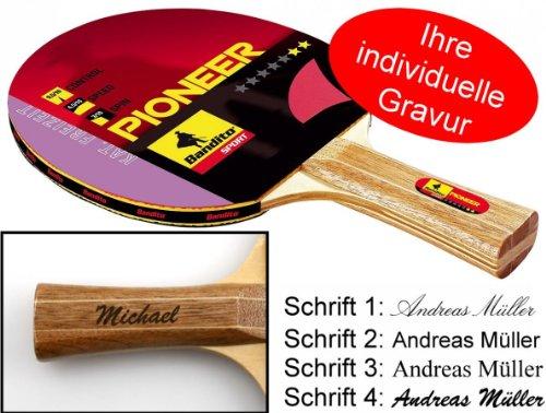 Ludomax Tischtennisschläger Pioneer 2-Star, Geschenk Idee mit individueller Gravur