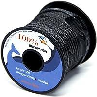 Cuerda trenzada de polietileno 100 % UHMWPE de 90-3.490 kg de Emmakites, resistente, baja elasticidad, utilidad en exterior para pesca, botes, etc, 900lb | 1.8mm(Dia.) x 31Meter