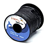 EMMAKITES 2200lbs 31Meter 3mm 100% UHMWPE Braided Polyethylene Cord Spool - Heavy Duty Low Stretch - Utility Cord Kite String for Outdoor Boating Fishing Kiting ¡ B01MSYVF8Y