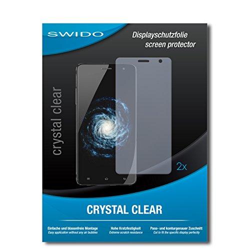 SWIDO Schutzfolie für Cubot H1 [2 Stück] Kristall-Klar, Hoher Härtegrad, Schutz vor Öl, Staub & Kratzer/Glasfolie, Bildschirmschutz, Bildschirmschutzfolie, Panzerglas-Folie
