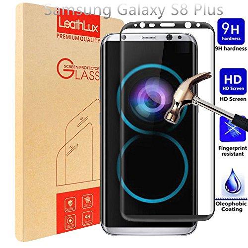 Samsung Galaxy S8 Plus Protector de Pantalla, PULEN Vidrio Cristal Templado Vidrio Templado [EASY-INSTALL alas][2.5d Borde redondo]con[9H Dureza][Alta Definicion][Garantía de por vida] Tempered glass Screen Protector (Negro)