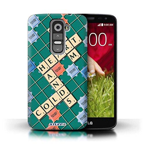 Kobalt® Imprimé Etui / Coque pour LG G2 Mini/D620 / Aucun Douleur Gain conception / Série Mots de Scrabble Coeur Chaud