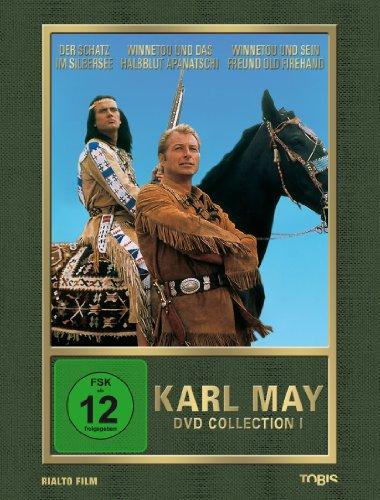 dvd winnetou 1 3 Karl May DVD-Collection 1 (Der Schatz im Silbersee / Winnetou und das Halbblut Apanatschi / Winnetou und sein Freund Old Firehand) (3 DVDs)