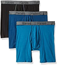 Hanes Men's CFFLC3ASTL 3 Boxers Briefs, Multicolour (Assor