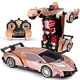 Knmbmg Capteur de Main de Voiture télécommande électrique King Kong Robot 1/12 échelle modèle véhicule contrôlé par Radio Little Boy télécommande Voiture Jouet déformable Voiture de Sport électrique