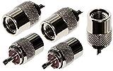 AERZETIX: 5x connecteur prise fiche UHF PL-259 mâle pour câble RG213