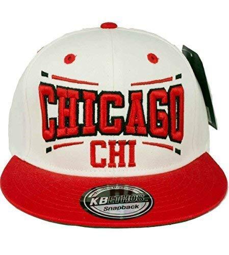 e4f21a09523 KB Ethos Caps Ethos KB HOMBRE MUJER Chicago GORRA snapback - Blanco Rojo