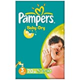 Pampers Baby Dry taille 3 (4-9 kg) Gros Paquet Midi 2x70 par paquet
