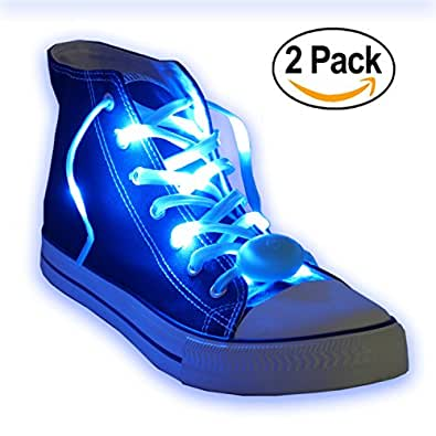 Nylon LED Light Up, Glow in the Dark, Glowing Shoelaces by