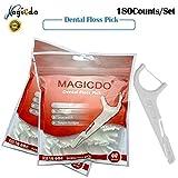 Magicdo 180Pcs Filo interdentale Picks, multifunzione Include filo interdentale per stuzzicadenti, selezionatore di denti, spazzola interdentale, raschietto per lingua, approvato dalla FDA (2 confezioni)